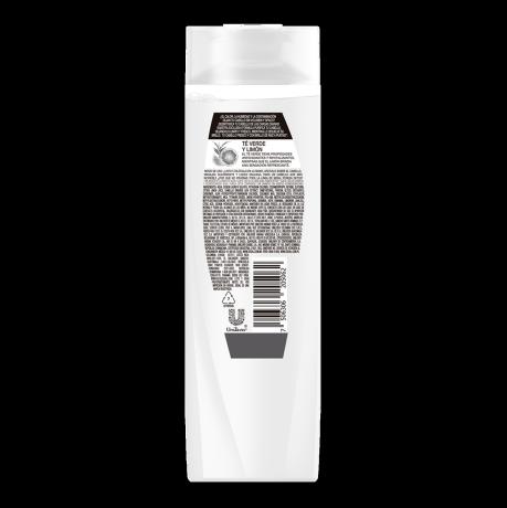 Imagen al parte posterior del paquete Sedal Detox / Yuya Shampoo 190ml