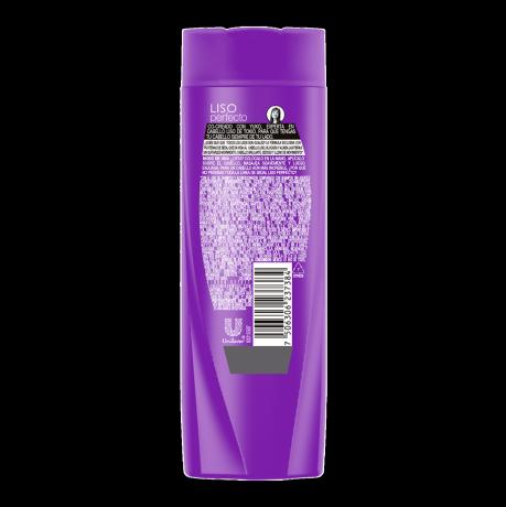 Imagen al parte posterior del paquete Sedal Shampoo Liso Perfecto 190ml